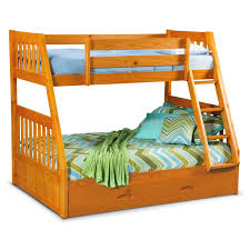 Bunk Beds With Trundle Ranger Twin Over Full Bunk Bed With Trundle Pine Value City