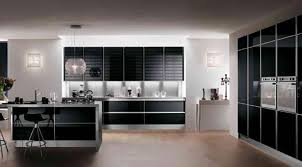 High Gloss Black Kitchen Cabinets 15 Contemporary Kitchen With Black Cabinets Rilane