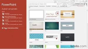 powerpoint design zuweisen startbildschirm und präsentation speichern