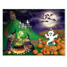 60 foot enchanted forest wall mural halloween scene setter photo