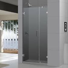 Dreamline Shower Doors Frameless Vigo 60 Inch Clear Glass Frameless Sliding Shower Door Chrome