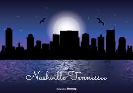nashville tennessee night skyline download free vector art