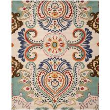 Area Rugs 6 X 10 Safavieh Ivory Blue 8 Ft X 10 Ft Area Rug Bel118a 8 The