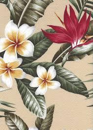 Upholstery Fabric Hawaii Maunawili Vintage Style Tropical Botanical Vintage Hawaiian