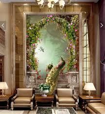 home decor 3d 3d room wallpaper custom mural non woven home decor 3d peacock roman