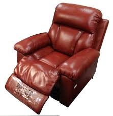 furniture euro style recliner and ottoman in black leather