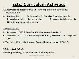 Examples Of Extracurricular Activities To Put On A Resume Extra Curricular Activities In Resume Sample Nardellidesign Com