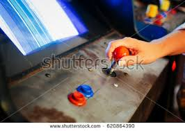 Games To Play In A Dark Room - old vintage arcade games dark room stock photo 636086801