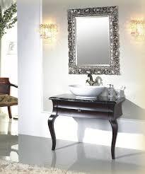 Antique Bathroom Vanity Ideas Antique Bathroom Vanities Ideas In Black Lacquered Wooden Console