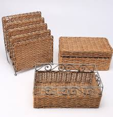 pier one wicker desk set ebth