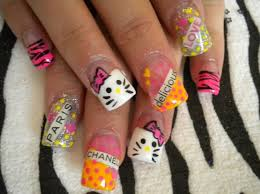 614 best nail art designs images on pinterest hello kitty nails