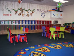 How To Decorate Nursery Classroom Colorful Furniture And Wall Decoration For Preschool Kindergarten