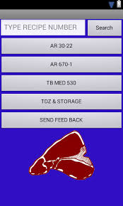 armed forces recipe cards android apps on play