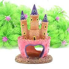 masterein pink princess castle fish cave aquarium ornament fish tank