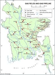 Map Of Bangladesh Map Of Gas Fields U0026 Gas Pipeline Of Bangladesh
