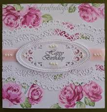 handcrafted by helen vintage rose birthday cards