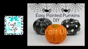 craft life fun u0026 easy diy painted pumpkins halloween room decor