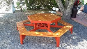 How To Make A Picnic Table Bench Cover by How To Build A Hexagon Picnic Table With Pictures Wikihow