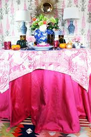 tablecloth decorating ideas set a stylish thanksgiving table here s how to dress it up this