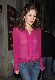 see thru blouse friel photos friel nips out the stage door