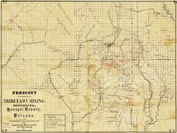 Arizona County Map Map 97 Prescott And Tributary Mining Districts Yavapai County
