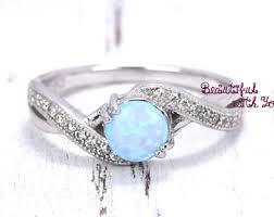 Opal Wedding Ring by White Opal Ring Silver Lab Opal Ring Opal Wedding Band