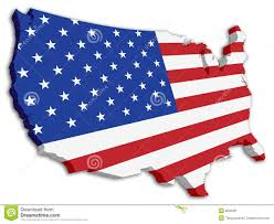 Color Map Of The United States by Color Usa 3d State Flag Map Stock Image Image 8226291