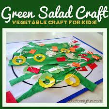 green salad for thanksgiving little family fun green salad craft farmer u0027s market theme
