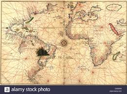 Map Of South America And North America by World Map With Compass Showing North And South America Stock Photo