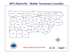Tennessee On A Map by A Tornado Climatology Of Middle Tennessee 1830 2003