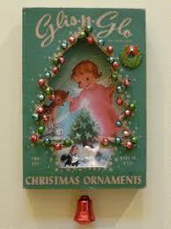 vintage ornament shadow box on ebay