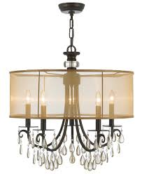 Bronze Chandelier With Crystals Lamp Beautiful Design Of Crystorama Chandeliers For Appealing