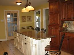 small kitchen spaces with black color staining oak cabinet ideas