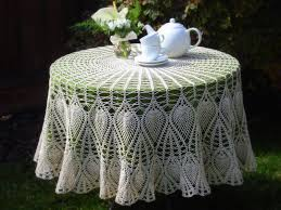 Dining Room Tablecloths by Dining Room Vintage Lace White Round Tablecloths