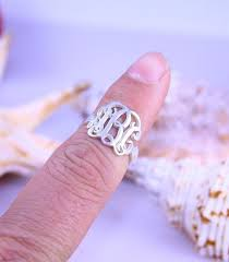 monogrammed silver ring 812 best rings images on jewelry rings and deco ring