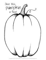 free printable pumpkin coloring pages u2013 festival collections