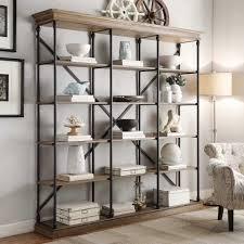 wall decoration restoration hardware bookshelves throughout