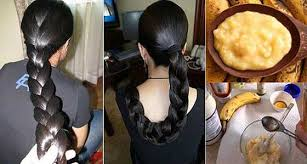how to make hair strong she used banana for hair and it made them thick and
