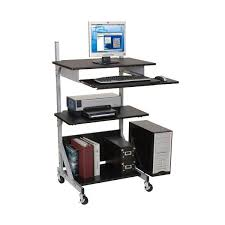 Computer Desk Stand Adjustable Black Computer Desk Stand Up Or Sit Configuration