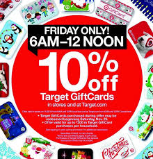 target gift cards 10 on black friday 2015 my money