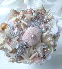 wedding bouquets with seashells diy seashell and brooch wedding boutique search when in