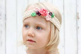 how to make baby flower headbands free crochet flower headband pattern baby toddler