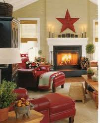 Living Room With Red Sofa by Love This Home Tour Filled With Fun Collections Like Cuckoo