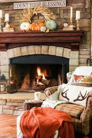 Country Fireplace Screens by Golden Boys And Me Fall Fireplace Mantel Fall Fireplace And