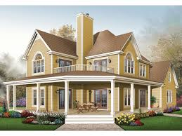 farmhouse with wrap around porch laurel hill country farmhouse plan 032d 0702 house plans and more