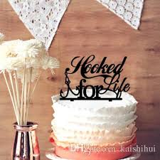 fishing wedding cake toppers 2018 beautiful weeding gift hooked for fishing silhouette
