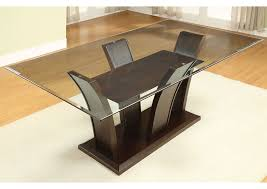 glass top dining room tables rectangular remarkable dinettes plus manhattan l rectangle glass top dining