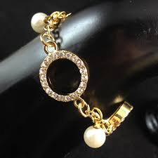 aliexpress buy new arrival 18k real gold plated fashion design pearl bracelet unique 18k real gold plated pearl