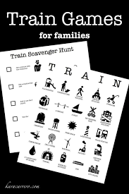 traveling games images Train games train bingo for families jpg
