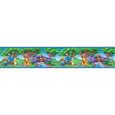 amazon com blue mountain wallcoverings ds026295 pooh scenic self